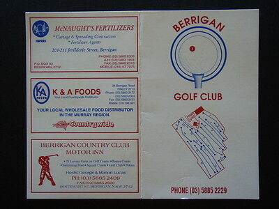 Berrigan Golf Club - Score Card