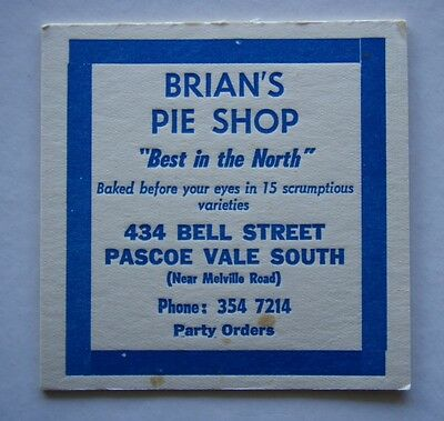 Brian's Pie Shop 434 Bell St Pascoe Vale South 3547214 Coaster