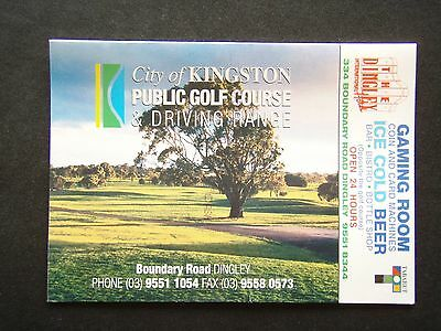 City Of Kingston Public Golf Course & Driving Range Dingley Tabaret Score Card
