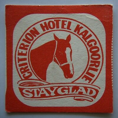Criterion Hotel Kalgoorlie Stayglad Coaster (B267)