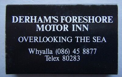 Derham's Foreshore Motor Inn Waterfront Restaurant Whyalla 086 458877 Matchbox