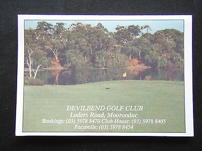 Devilbend Golf Club Moorooduc Score Card
