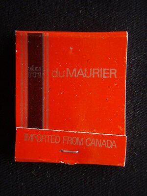 du MAURIER CIGARETTES IMPORTED FROM CANADA MATCHBOOK