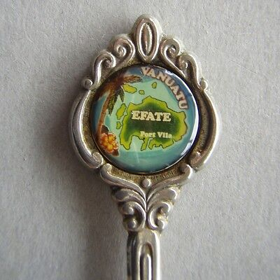 Efate Vanuatu Port Vila Map EPA1 Souvenir Spoon Teaspoon