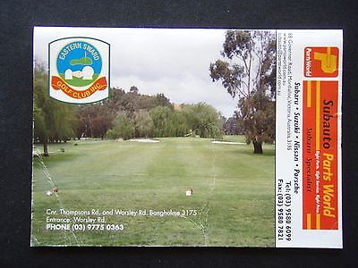 Eastern Sward Golf Club Inc Score Card