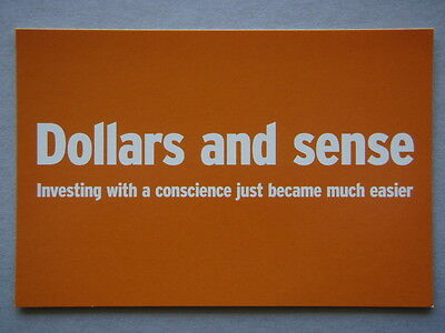 Ethical Investor Magazine Dollars And Sense Avant Card #5843 Postcard