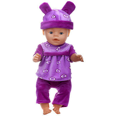 1set Doll Clothes Wear for 43cm Baby Born zapf (only sell clothes ) MG-220