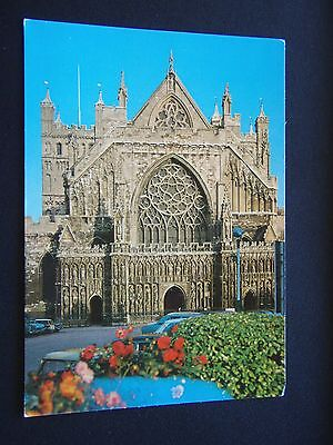 Exeter Cathedral West Front Postcard
