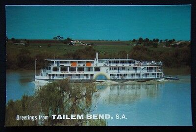 Greetings from Tailem Bend SA Murray River Queen c1970's Postcard (P240)