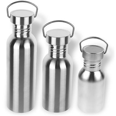 350/550/750/ Stainless Steel Wide Mouth Drinking Water Bottle Sports Cycle