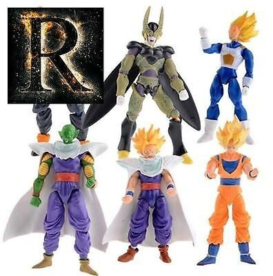 6pcs/set 15cm Dragon Ball DBZ Anime Goku Vegeta Piccolo Gohan super saiyan Joint