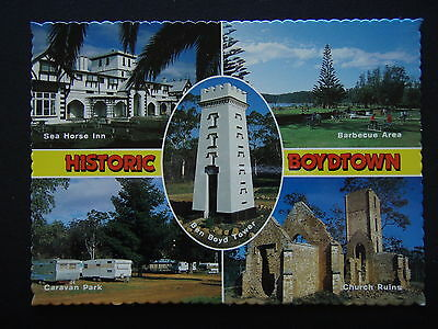 Historic Boydtown Sea Horse Inn Bbq Area Tower Caravan Park Church Ruin Postcard