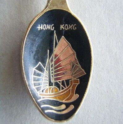 Hong Kong Junk Souvenir Spoon Teaspoon