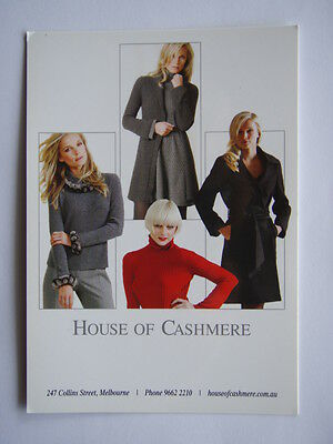 House Of Cashmere Advert Postcard