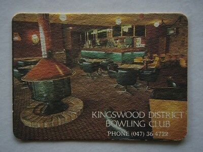 Kingswood District Bowling Club 047 364722 Coaster