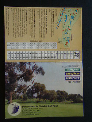Pakenham & District Golf Club - Score Card