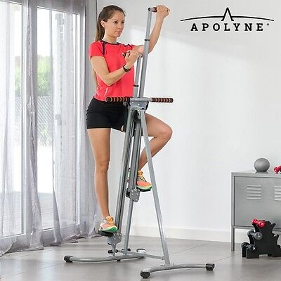 4x Vertical Climber Stair Climber Fitness Machine + Exercise Video Home Workout
