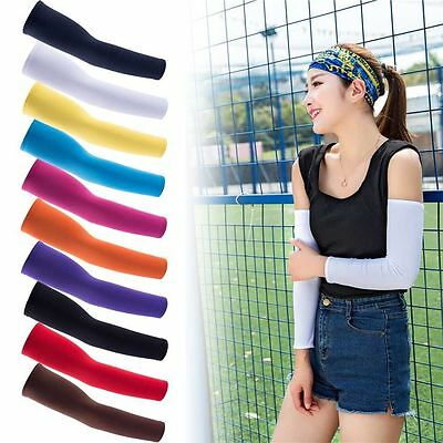Sport 1Pair Cooling Arm Sleeves Cover UV Sun Protection Basketball Golf Athletic