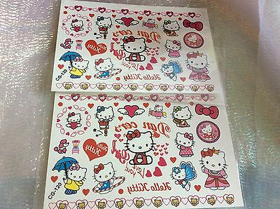 2 X Hello Kitty Temporary Tattoos