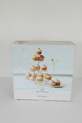 """Kmart"" 4 Tier Wire 19 Cupcake Stand - With Box - Perfect Condition!"
