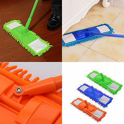 Extendable Microfibre Mop Cleaner Sweeper Wooden Laminate Tile Floor Wet Dry UK