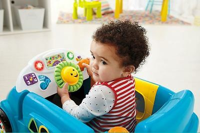 Activity Toy Baby Toddler Learning Play Car Interact Stages Music Crawl Around