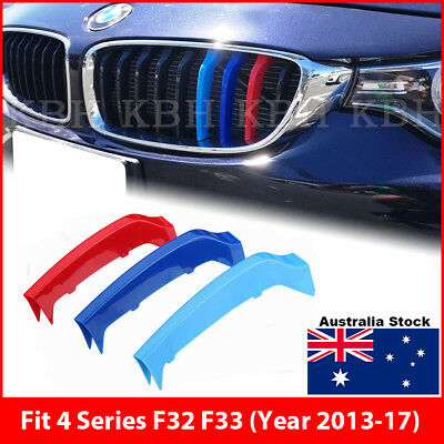 M-Tech Kidney Grille 3 Colour Cover Clip for BMW 4 Series F32 F33 Year 2013-2015