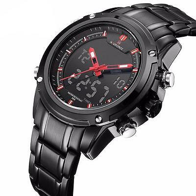Reloj De Pulsera Naviforce® - Acero Inoxidable - Pantalla Digital y Manillas