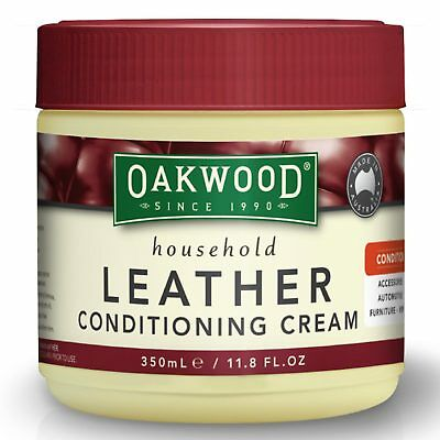 Oakwood Leather Conditioning Cream 350ml Intense Leather Conditioner Couch Bag