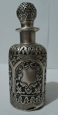 Antique English Victorian Sterling Silver Scent Perfume Bottle