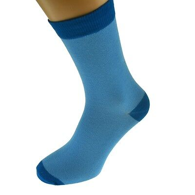 Blue Mens Socks with Dk Blue heal and toes, popular Wedding Day Socks  X6TC006