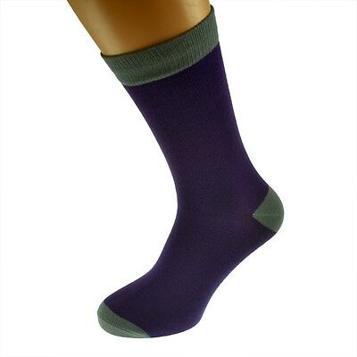 Purple Mens Socks with Grey heal and toes, popular Wedding Day Socks  X6TC009