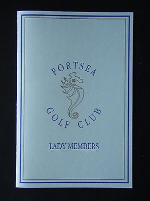 Portsea Golf Club Lady Members Score Card