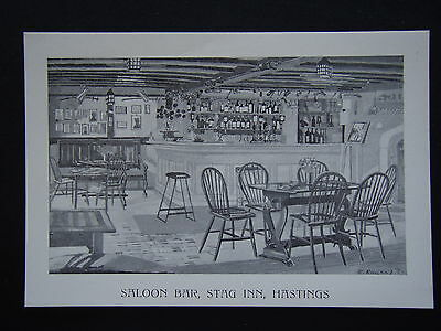 Saloon Bar Stag Inn Hastings By R.rowland '57 Postcard