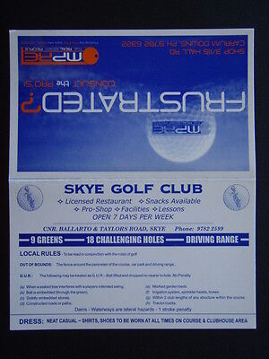 Skye Golf Club - Score Card