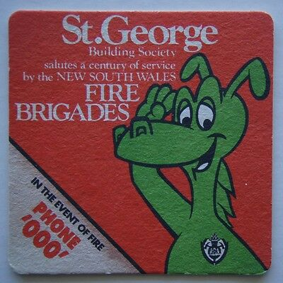 St George Building Society Salutes Fire Brigades Event Of Fire Phone 000 Coaster
