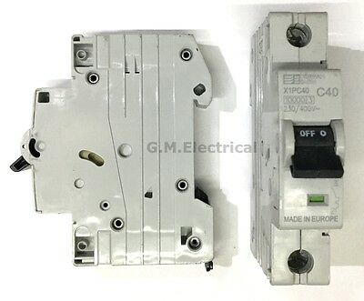 Dorman Smith 40 Amp Type C 40A Single Pole / Phase Mcb Circuit Breaker X1Pc40