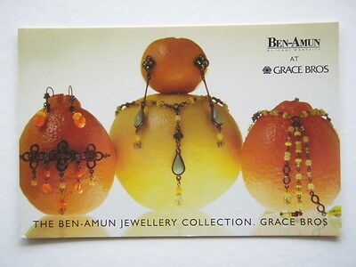 The Ben-Amun Jewellery Collection At Grace Bros Avant Card #1022 Postcard
