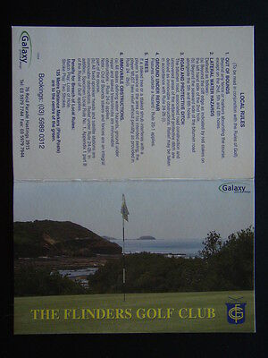 The Flinders Golf Club - Score Card