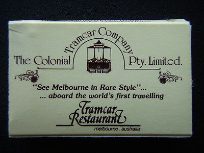 The Colonial Tramcar Company Pty Limited Restaurant Melbourne - Matchbox