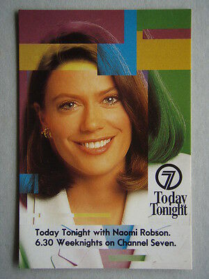 Today Tonight Naomi Robson 6.30 Weeknights Channel 7 Avant Card #2129 Postcard