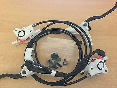 Shimano BR-M355 Acera MTB Hydraulic Disk Brake Set Pair Front/Rear White