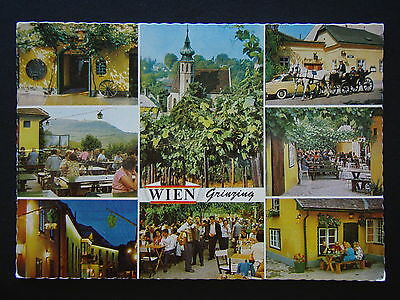 Vienna Grinzing World-Famous Wine Tavern 1979 Postcard