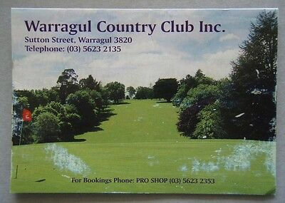 Warragul Country Club Inc Golf Score Card