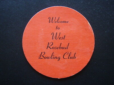 Welcome To West Rosebud Bowling Club Coaster