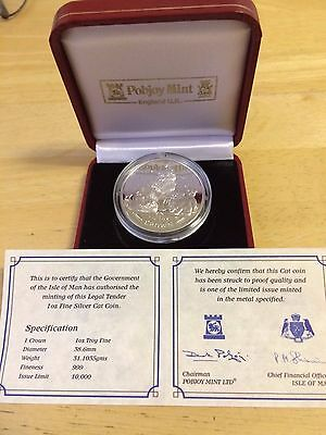 2007 Isle of Man Cat 🐱 Coin 1 oz. Troy .999 silver Proof