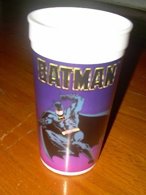 Vtg 1989 BATMAN Movie GOTHAM CITY Plastic Souvenir Collector Cup Taco Bell Pepsi