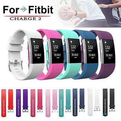 Replacement Silicone Band Smart Watch Strap Buckle For Fitbit Charge 2 Bracelet