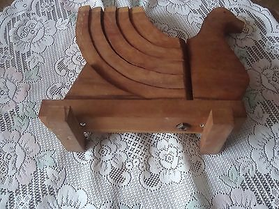 Ooak Primitive Handmade Wood Turkey Candle Holder Expanding Tail Feathers Wood