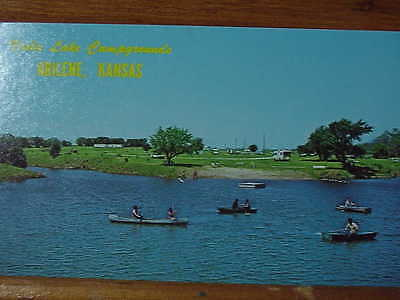 Viola Lake Campgrounds, Abilene, Kansas;   Vintage Postcard;Unused Circa 1960s
